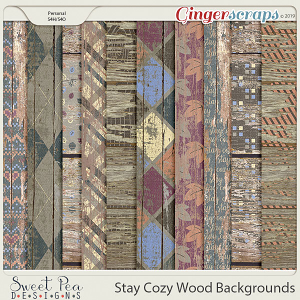 Stay Cozy Wood Backgrounds