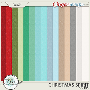 Christmas Spirit - Solid Papers - by Neia Scraps