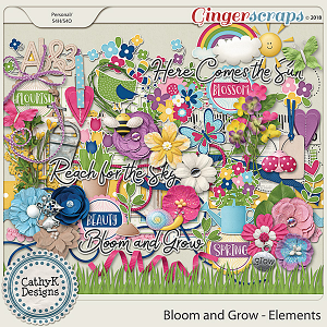Bloom and Grow - Elements by CathyK Designs