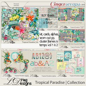 Tropical Paradise: The Collection by LDragDesigns