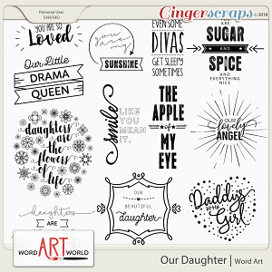 Our Daughter Word Art