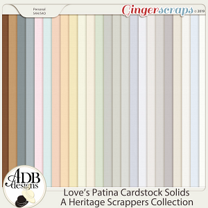 Love's Patina Solid Papers by ADB Designs