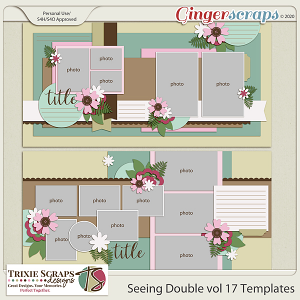 Seeing Double vol 17 Template Pack by Trixie Scraps Designs