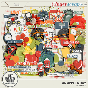 An Apple A Day Elements by JB Studio