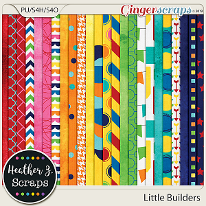Little Builders PAPERS by Heather Z Scraps