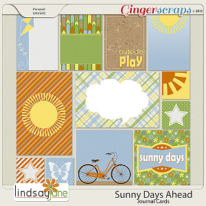Sunny Days Ahead Journal Cards by Lindsay Jane