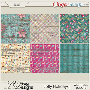 Jolly Holidays: Worn Out Papers by LDragDesigns