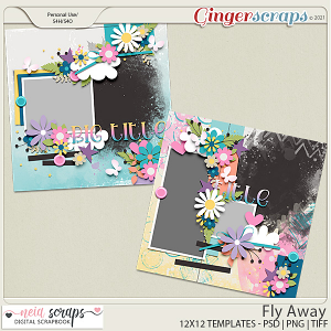 Fly Away - Templates - by Neia Scraps