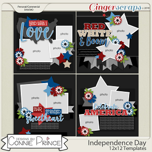 Independence Day - 12x12 Temps (CU Ok) by Connie Prince