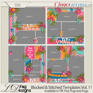 Blocked & Stitched Templates Vol.11 by LDrag Designs