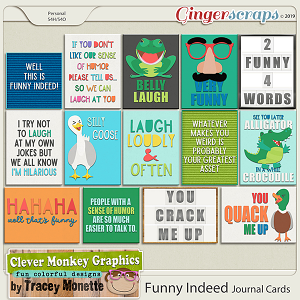 Funny Indeed Journal Cards by Clever Monkey Graphics