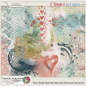 She Shall Not Be Moved Painted Accents by Trixie Scraps Designs