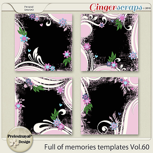 Full of memories Templates Vol.60