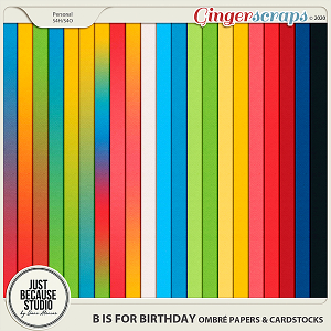 B is For Birthday Ombré Papers & Cardstocks by JB Studio