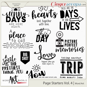 Page Starters Vol 4 Word Art