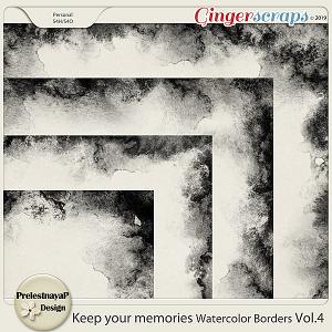 Keep your memories Watercolor Borders Vol.4
