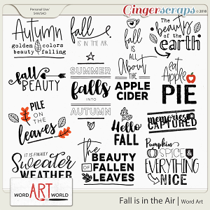 Fall is in the Air Word Art