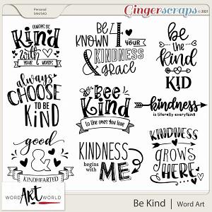 Be Kind Word Art