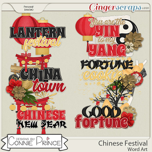 Chinese Festival - Word Art Pack by Connie Prince