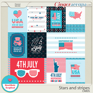 Stars and stripes - cards