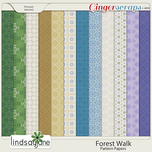 Forest Walk Pattern Papers by Lindsay Jane