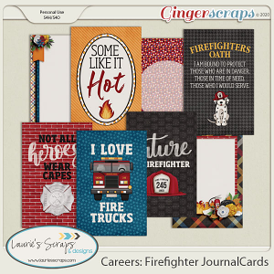 Careers: Firefighter Journal Cards