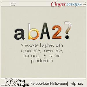 Fa-BOO-lous Halloween: Alphas by LDragDesigns
