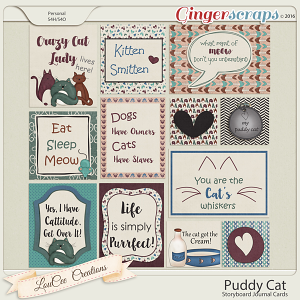 Puddy Cat Storyboard Journal Cards