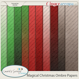 Magical Christmas Ombre Papers