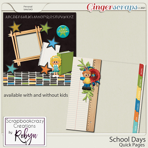 School Days Quick Pages by Scrapbookcrazy Creations