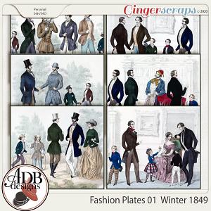 Heritage Resource Fashion Plates 01 Winter 1849 by ADB Designs