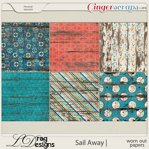 Sail Away: Worn Out Papers by LDrag Designs
