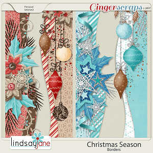 Christmas Season Borders by Lindsay Jane
