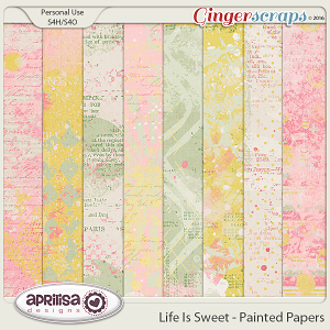 Life Is Sweet - Painted Papers by Aprilisa Designs