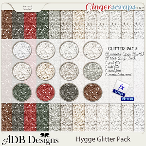 Hygge Glitter Pack by ADB Designs