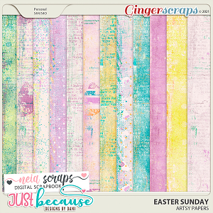 Easter Sunday Artsy Papers by JB Studio and Neia Scraps