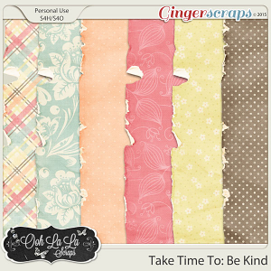 Take Time To Be Kind Worn Papers