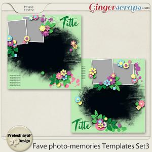 Fave photo-memories Templates Set3