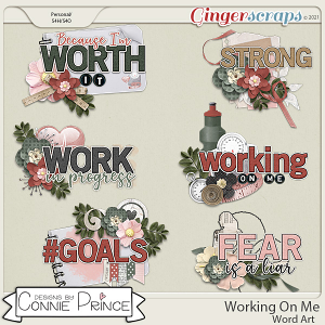 Working On Me - Word Art Pack by Connie Prince