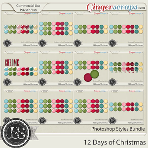 12 Days Of Christmas CU Photoshop Styles Bundle