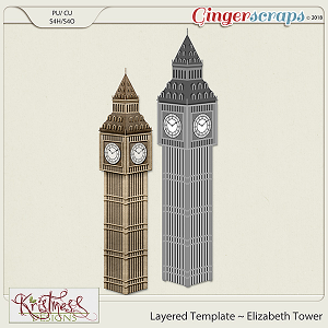 CU Elizabeth Tower Layered Template
