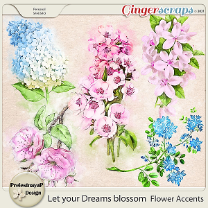 Let your Dreams blossom Accents Set1