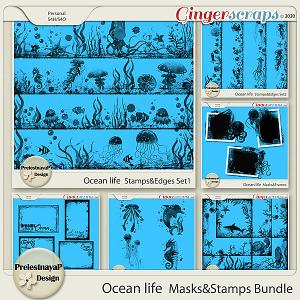 Ocean life Masks & Stamps Bundle