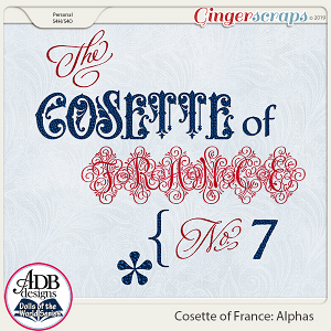 Cosette Alphas {DOTW France} by ADB Designs
