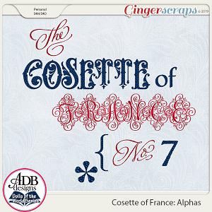 Cosette Alphas {DOTW France} by ADB Designs