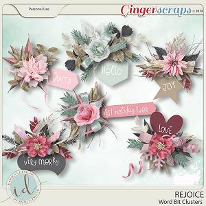 Rejoice Word Bit Clusters by Ilonka's Designs