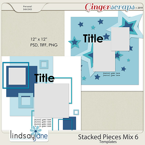 Stacked Pieces Mix 6 Templates by Lindsay Jane