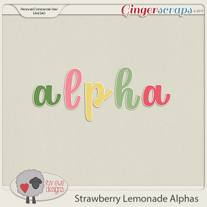 Strawberry Lemonade Alphas by Luv Ewe Designs