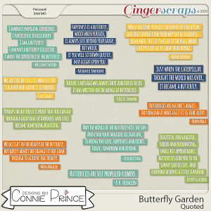 Butterfly Garden - Quoted by Connie Prince