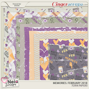 Memories: February 2018 - Torn Papers- by Neia Scraps
